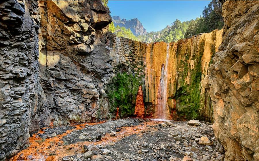 Waterval Cascada de los Colores op La Palma